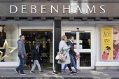 Debenhams store, Stratford-upon-Avon, Warwickshire - John Harris - 2010s,2018,adolescence,adolescent,adolescents,adult,adults,bought,boy,boys,buying,child,CHILDHOOD,children,commodities,commodity,consumer,consumers,customer,customers,DAD,DADDIES,DADDY,DADS,Debenhams,