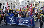Stand Up To Racism protest London, FBU members - Stefano Cagnoni - 17-11-2018