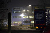 Amazon warehouse, Rugeley, Staffordshire - John Harris - 2010s,2018,depot,DEPOTS,distributing,distribution,EBF,Economic,Economy,HAULAGE,HAULIER,HAULIERS,HGV,hgvs,LGV,LGVs,logistics,lorries,lorry,night time,poor conditions,Rugeley,Staffordshire,transport,tra