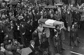 Funeral of Maire Drumm, Vice pres of Sein Fein, 1976 she was shot dead in hospital by the Ulster loyalist 'Red Hand Commando'. - Martin Mayer - 01-11-1976