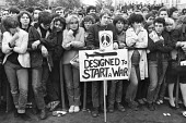 Anti nuclear weapons CND protest London 1980 - NLA - 1980,1980s,activist,activists,adolescence,adolescent,adolescents,against,anti nuclear,Anti War,Antiwar,atomic,boot,boots,CAMPAIGN,Campaign for nuclear disarmament,campaigner,campaigners,CAMPAIGNING,CA