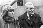Susannah York and Tony Benn at anti-nuclear protest demonstration through London. - NLA - peace movement,1980,1980s,activist,activists,against,anti nuclear,Anti War,anti-nuclear,Antiwar,Campaign for nuclear disarmament,CAMPAIGNING,CAMPAIGNS,CND,CND Symbol,cruise missiles,DEMONSTRATING,Demo
