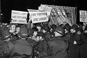 Police move in on a protest against job losses during visit Margaret Thatcher, Cardiff, Wales 1980 - NLA - 1980,1980s,activist,activists,adult,adults,against,anti union law,Anti Union laws,CAMPAIGN,campaigner,campaigners,CAMPAIGNING,CAMPAIGNS,capitalism,capitalist,Cardiff,close,closed,closing,closure,closu