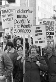 Protest at Thatcherism, job losses at Girling, Liverpool 1980. Lucas Girling Brake Pad Factory, Bromborough, Wirral - NLA - 29-11-1980