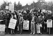 Protest against Margaret Thatcher visiting Harlow New Town, 1981 - NLA - 23-01-1981