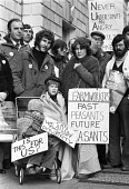 Agricultural workers lobby in support of a pay claim, London 1980 - NLA - 1980,1980s,activist,activists,against,CAMPAIGNING,CAMPAIGNS,claim,DEMONSTRATING,Demonstration,EARNINGS,farm,farm worker,farm workers,farmhand,farmhands,farmworker,Farmworkers,Income,landworker,landwor