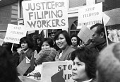 Filipino workers protest against immigration laws, London 1980 - NLA - 1980,1980s,activist,activists,against,CAMPAIGNING,CAMPAIGNS,DEMONSTRATING,Demonstration,deportation,deporting,Diaspora,FEMALE,Filipino,Filipino workers,foreign,foreigner,foreigners,immigrant,immigrant