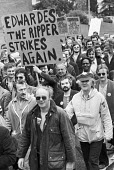 Protest against closure of the Solihull Rover factory 1981 and job losses, Birmingham - NLA - 1980s,1981,activist,activists,against,automotive,Birmingham,BL,British Leyland,CAMPAIGNING,CAMPAIGNS,Car Industry,car workers,carindustry,CLOSED,closing,closure,closures,DEMONSTRATING,Demonstration,FA
