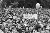 250,000 CND protest against the siting of USAF cruise missiles in the UK, London 1981 - NLA - peace movement,1980s,1981,activist,activists,against,airforce,Armed Forces,Campaign for nuclear disarmament,CAMPAIGNING,CAMPAIGNS,CND,CND Symbol,cruise,cruise missile,cruise missiles,DEMONSTRATING,Dem
