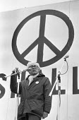 Michael Foot speaking 250,000 CND protest against the siting of USAF cruise missiles in the UK, London 1981 - NLA - peace movement,1980s,1981,activist,activists,against,airforce,Armed Forces,banner,banners,Campaign for nuclear disarmament,CAMPAIGNING,CAMPAIGNS,CND,CND Symbol,cruise,cruise missile,cruise missiles,DE