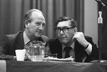 Gordon McLennan CP (L), Mick McGahey Scottish NUM 1981 Communist Party Congress - NLA - 15-11-1981
