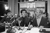 Peter Tatchell, Bermondsey byelection Labour Party Press conference, 1981 to support their candidate Peter Tatchell (C) after he was denounced by Michael Foot for allegedly supporting extra-parliament... - NLA - 07-12-1981