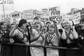 Nurses protest in support of their pay claim, Trafalgar Square, London, 1982 National Health Service day of action - NLA - 24-01-1982