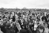 Wandsworth Council joint trade unions mass meeting 1982 voting to strike against government proposals to outsource and privatise services, London - NLA - 07-04-1982