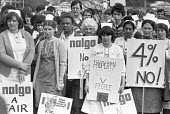 Health workers rally in support of their pay claim of 12%, Northwick Park Hospital, North London 1982 - NLA - 14-04-1982