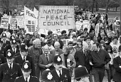 Peace march and rally against the Falklands War, London 1982 National Peace Council, Gordon McLennan, Tony Benn, Judith Hart, Mike Hicks - NLA - 1980s,1982,activist,activists,against,Anti War,Antiwar,CAAT,campaign,campaigning,CAMPAIGNS,Ceasefire,communism,Communist Party,Council,DEMONSTRATING,Demonstration,Falklands War,Gordon McLennan,Judith