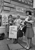 Mothers of Belfast IRA members subject to alleged army brutality, 1977 protest at Downing Street, London - NLA - 1970s,1977,activist,activists,against,army brutality,Belfast mothers,CAMPAIGNING,CAMPAIGNS,catholic,catholics,DEMONSTRATING,Demonstration,Downing Street,imprisonment,incarcerated,incarceration,INMATE,