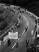 Coalisland blanket protest, Northern Ireland, in support of IRA hunger strikers 1978, who were demanding political status and refused to wear prison uniforms in a dirty protest - NLA - 1970s,1978,activist,activists,against,banner,banners,blanket protest,CAMPAIGNING,CAMPAIGNS,catholic,catholics,Coalisland,DEMONSTRATING,demonstration,dirty protest,hunger,hunger strikers,imprisonment,i
