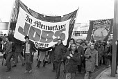 Mass march through Liverpool in protest at Thatcherism, job losses etc. - Peter Arkell - 1980,1980s,activist,activists,against,banner,banners,CAMPAIGNING,CAMPAIGNS,DEMONSTRATING,Demonstration,DMA,Job Losses,jobless,jobs,Liverpool,London,loss,Marginalised,Mass,member,member members,members