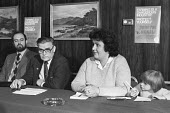 Press conference 1983 Kerry Hogben (R), aged 7, at a press conference, with her mother Irene, given by the agricultural workers union on the dangers of the herbicide 245T. Kerry was born in May 1976 w... - Peter Arkell - 17-02-1983