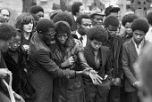Funeral of Patrick Cummings, one of the victims of the New Cross house fire that killed 13, London 1981 - Peter Arkell - 1980s,1981,arson,attack,attacking,attacks,BAME,BAMEs,bigotry,Black,BME,bmes,burn,burning,BURNS,burnt out,cities,City,communities,community,cry,crying,death,deaths,destroyed,destruction,died,DISCRIMINA
