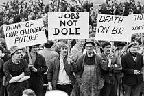 Mass meeting against closure of British Rail workshops, Horwich, Bolton, Lancashire 1982 - Peter Arkell - 06-05-1982