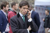 Rory Stewart MP, College Green, Westminster, London, on the day of four ministerial resignations over Brexit deal - Philip Wolmuth - 2010s,2018,Brexit,call,calls,CELLULAR,College,COLLEGES,communicating,communication,CONSERVATIVE,Conservative Party,conservatives,EU,Europe,European Union,JOURNALIST,journalists,London,media,mobile pho