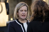 Amber Rudd MP interviewed on College Green, opposite the Houses of Parliament, London, on the day Conservative MPs launched a leadership challenge - Philip Wolmuth - 12-12-2018