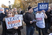 Leave Means Leave pro-Brexit protesters demonstrate outisde a critical Downing Street Brexit Cabinet meeting, Whitehall, Westminster London. - Philip Wolmuth - 14-11-2018