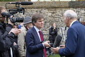 BBC political editor Nick Watt interviewing Vince Cable MP, College Green, Westminster, London, on the day of four ministerial resignations over Brexit deal. - Philip Wolmuth - 15-11-2018