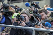 News photographers, radio and TV journalists working on College Green, opposite the Houses of Parliament, London, on the day Conservative MPs launched a leadership challenge - Philip Wolmuth - 12-12-2018