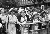 Nurses from St Mary's Hospital, Harrow Road, London, 1982 Day of Action for a 12% pay rise - NLA - 20-07-1982