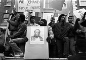 Protest to demand the truth about the death of Colin Roach, Hackney, East London 1982, he was shot in the mouth in the foyer of Stoke Newington police station - Ray Rising - 22-01-1983