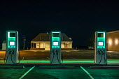 Nebraska, USA, Electrify America electric vehicle charging station. VW launched Electrify America as part of its $2 billion settlement with the EPA and CARB over the Dieselgate scandal - Jim West - 22-12-2018