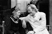 Theatre Royal Haymarket London 1982 Joyce Carey as Mrs Whitefield and Peter O'Toole as John Tanner, Man And Superman by G B Shaw - Stefano Cagnoni - 1980s,1982,ACE,act,acting,actor,actors,actress,actresses,costume drama,culture,drama,DRAMATIC,entertainment.,FEMALE,GB Shaw,George Bernard Shaw,Joyce Carey,London,male,man,Man And Superman,men,people,