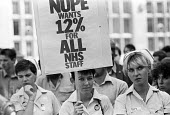 Nurses at St Bartholomews Hospital on strike 1982 for NHS workers 12 per cent pay claim, London - Stefano Cagnoni - 03-09-1982