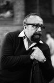 Polish composer Krzystof Pendercki 1984 during a break from rehearsing the first British performance of Te Deum with the Krakow Symphony Orchestra at the Brighton Festival - Stefano Cagnoni - 1980s,1984,ACE,Arts,break,classical music,composer,Composers,concert,concerts,conducting,conductor,conductors,culture,Festival,FESTIVALS,Krakow,Krzystof Pendercki,male,man,melody,men,music,MUSICAL,Orc