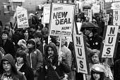New Deal for Students NUS protest London 1984 - Stefano Cagnoni - 1980s,1984,activist,activists,against,CAMPAIGNING,CAMPAIGNS,DEMONSTRATING,demonstration,London,male,man,member,member members,members,men,New Deal,NUS,people,person,persons,placard,placards,PROTEST,PR