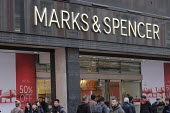 Marks & Spencer end of year sales, Oxford Street, London - Philip Wolmuth - Economy,2010s,2019,bought,business,buying,cities,city,commodities,commodity,consumer,consumers,crowd,crowds,customer,customers,EBF,EBF Economy business,economic,Economy,high street,London,M&S,outlet,o