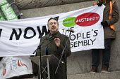 John Rees speaking Britain is Broken - General Election Now, People's Assembly protest, Trafalgar Square, London - Jess Hurd - 12-01-2019