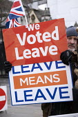 Pro leave protest as Parliament prepares to vote on Brexit, Westminster, London - Jess Hurd - 15-01-2019