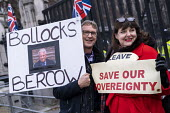 Bollocks Bercow Pro leave protest as Parliament prepares to vote on Brexit, Westminster, London - Jess Hurd - 15-01-2019