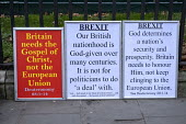 Christian Pro leave protest as Parliament prepares to vote on Brexit, Westminster, London - Jess Hurd - 15-01-2019