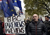 BBC Fake News. Protest as Parliament prepares to vote on Brexit, Westminster, London - Stefano Cagnoni - 15-01-2019