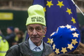 Remain protest as Parliament prepares to vote on Brexit, Westminster, London - Stefano Cagnoni - 2010s,2019,activist,activists,against,age,ageing population,Brexit,CAMPAIGNING,CAMPAIGNS,deal,DEMONSTRATING,demonstration,elderly,EU,European Union,flag,flags,leave,London,male,man,men,No deal,old,Par