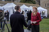 Angela Rayner MP being interviewed, College Green as Parliament prepares to vote on Brexit, Westminster, London - Philip Wolmuth - 2010s,2019,Brexit,broadcast,broadcaster,broadcasters,BROADCASTING,College,COLLEGES,communicating,communication,EU,European Union,FEMALE,host,interview,INTERVIEWED,INTERVIEWER,interviewing,interviews,j