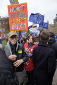 Pro and Leave protest as Parliament prepares to vote on Brexit, Westminster, London - Philip Wolmuth - 15-01-2019