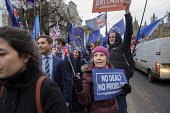 No Deal No Problem. Leave protest as Parliament prepares to vote on Brexit, Westminster, London - Philip Wolmuth - 15-01-2019