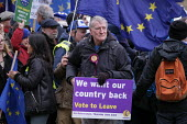 We Want Our Country Back. UKIP Leave protest as Parliament prepares to vote on Brexit, Westminster, London - Philip Wolmuth - 2010s,2019,activist,activists,against,Brexit,Brexiters,CAMPAIGNING,CAMPAIGNS,DEMONSTRATING,demonstration,EU,European Union,eurosceptic,Euroscepticism,eurosceptics,flag,flags,Leave,London,Parliament,Pa