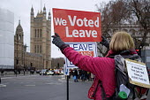 Leave protest as Parliament prepares to vote on Brexit, Westminster, London - Philip Wolmuth - 15-01-2019
